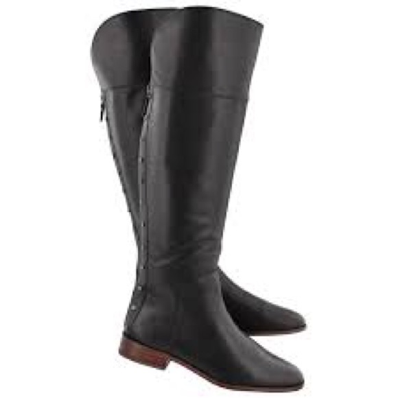 82a77b269be5 Franco Sarto Black Roselle Leather High Boot